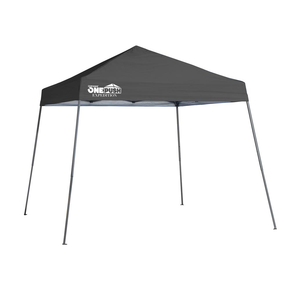 10 ft. x 10 ft. Charcoal Slant Leg Pop-Up Canopy