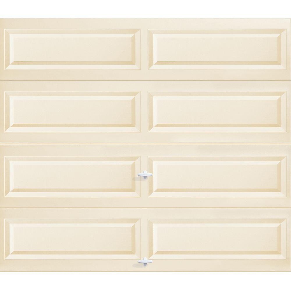 Clopay 8 Ft X 7 Ft Almond Long Panel Garage Door Hdbl The Home Depot