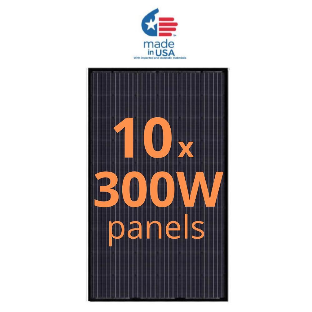 Grape Solar 300-Watt Monocrystalline Solar Panel (10-Pack)