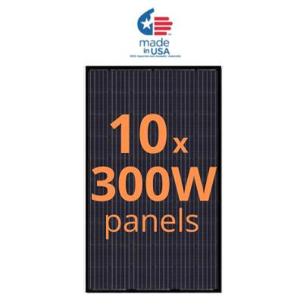 300-Watt Monocrystalline Solar Panel (10-Pack)