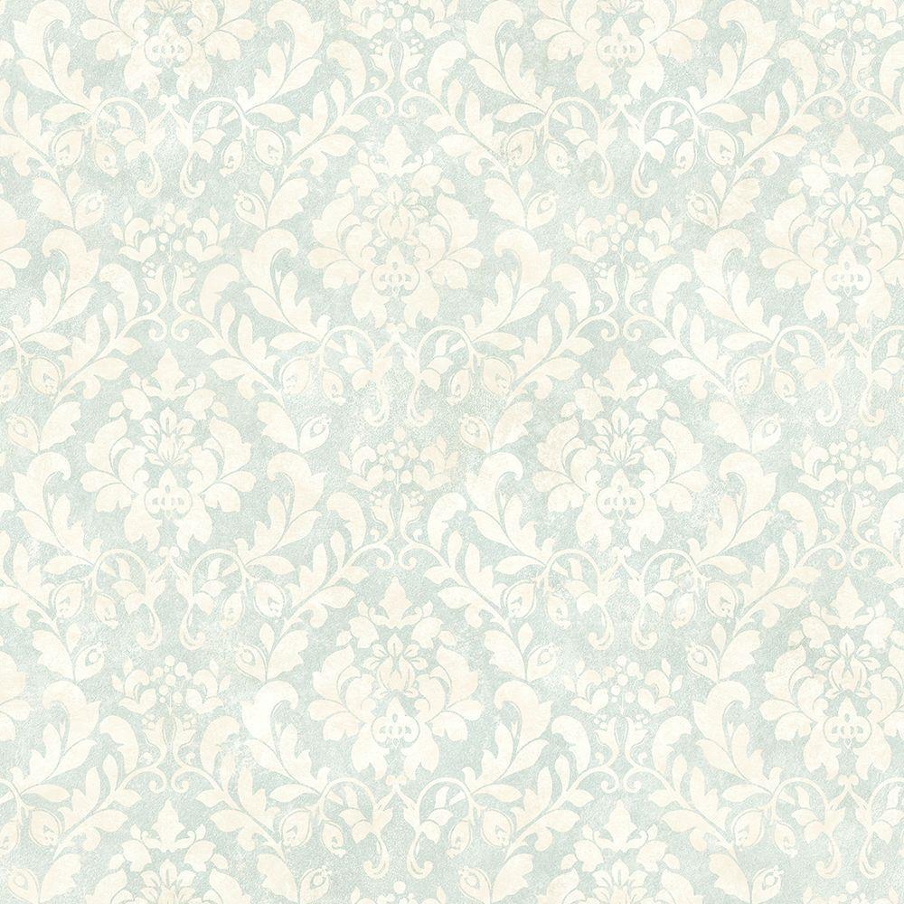 Chesapeake Belle Jardin Damask Sky Damask Wallpaper CCB02204 - The ...