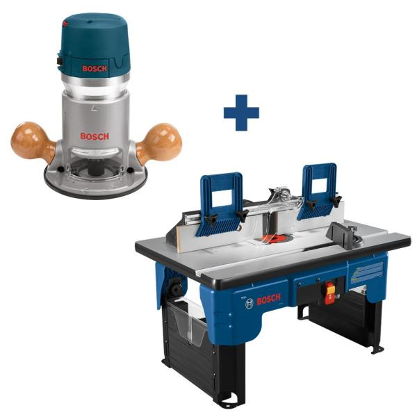 12 Amp 2-1/4 HP Router with Bonus Router Table