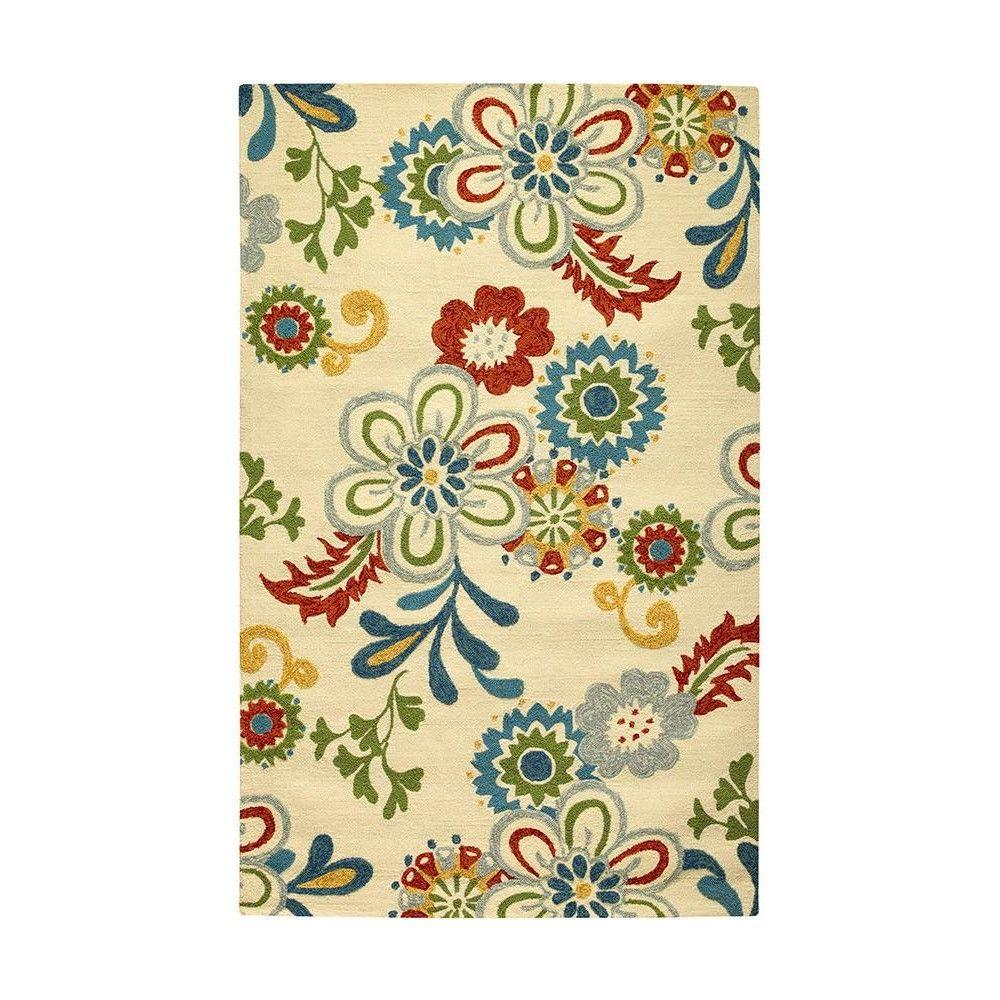 Home Decorators Collection Tilly Ivory 3 ft. x 5 ft. Area Rug