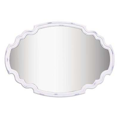Backstage 24 in. x 35 in. White framed Wall Mirror