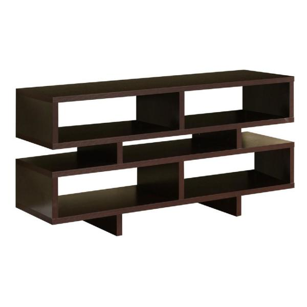 Kings Brand Furniture Espresso Cube Storage TV Stand 709E
