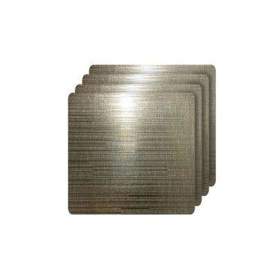Emery Coffee Metallic Reversible Square Placemats (Set of 4)