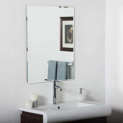 31.5 in. x 23.6 in. Rectangle Vera Frameless Bathroom Mirror with Beveled Edge