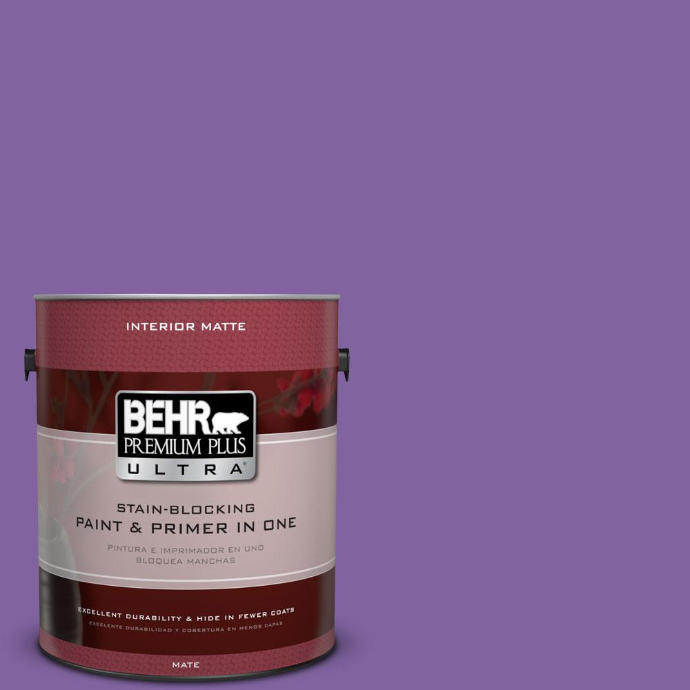 BEHR Premium Plus Ultra 1 gal. #PPU16-3 Purple Paradise Flat/Matte Interior Paint