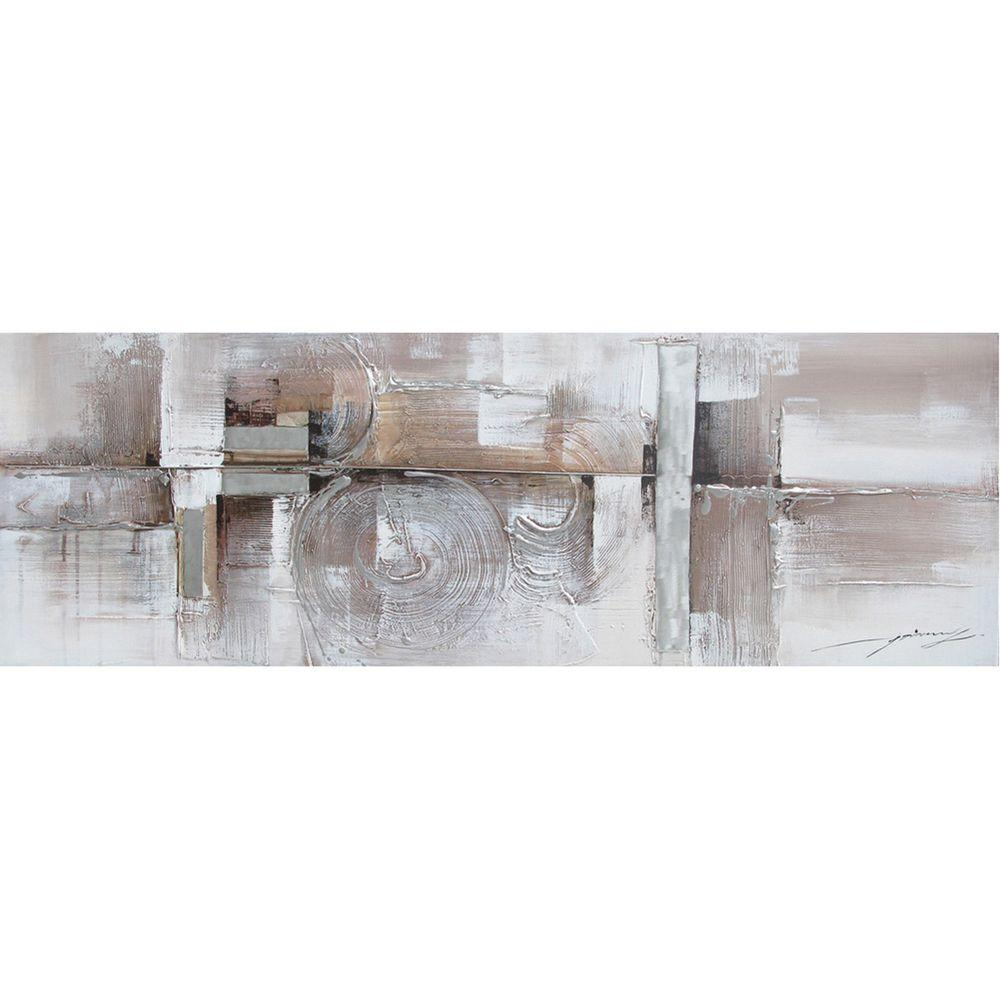 """Yosemite Home Decor 20 in. x 59 in. """"Serenity I"""" Hand Painted Contemporary Artwork"""