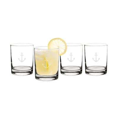 Anchor 14 oz. Clear Drinking Glasses (4-Pack)
