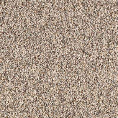 Carpet Sample - Thrill Seeker - Color Candle Light Twist 8 in. x 8 in.