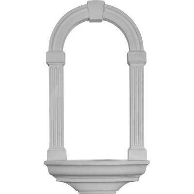 16-3/8 in. x 4-5/8 in. x 29-7/8 in. Primed Polyurethane Surface Mount Adonis Wall Niche