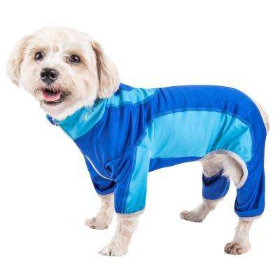 X-Large Blue Active Warm-Pup Performance Two-Toned Full Body Warm Up