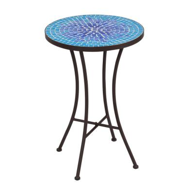 Mar Mosaic Metal Outdoor Side Table