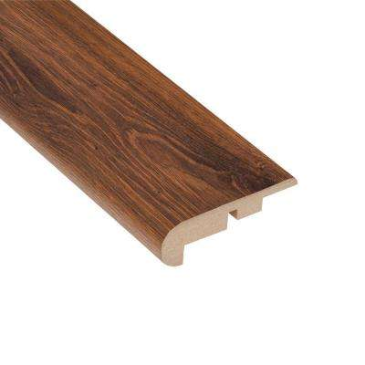 Santa Cruz Walnut 7/16 in. Thick x 2-1/4 in. Wide x 94 in. Length Laminate Stair Nose Molding