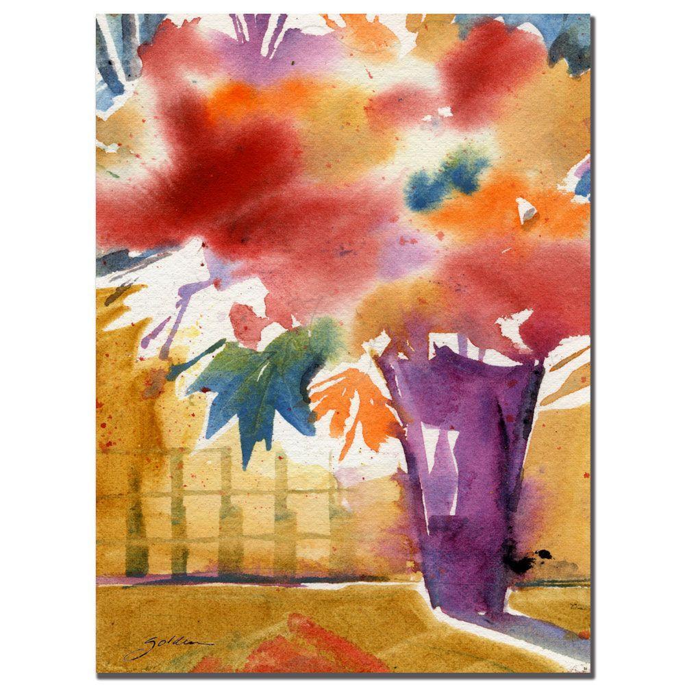 Trademark Fine Art 24 in. x 32 in. Ochre Wall Canvas Art