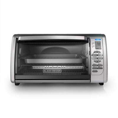 6-Slice Digital Convection Toaster Oven in Stainless Steel