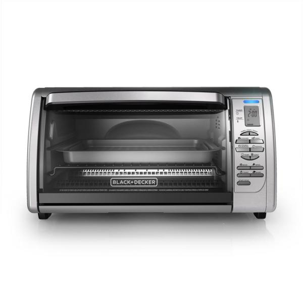 BLACK+DECKER 1500 W 6-Slice Stainless Steel Toaster Oven with Broiler CTO6335S