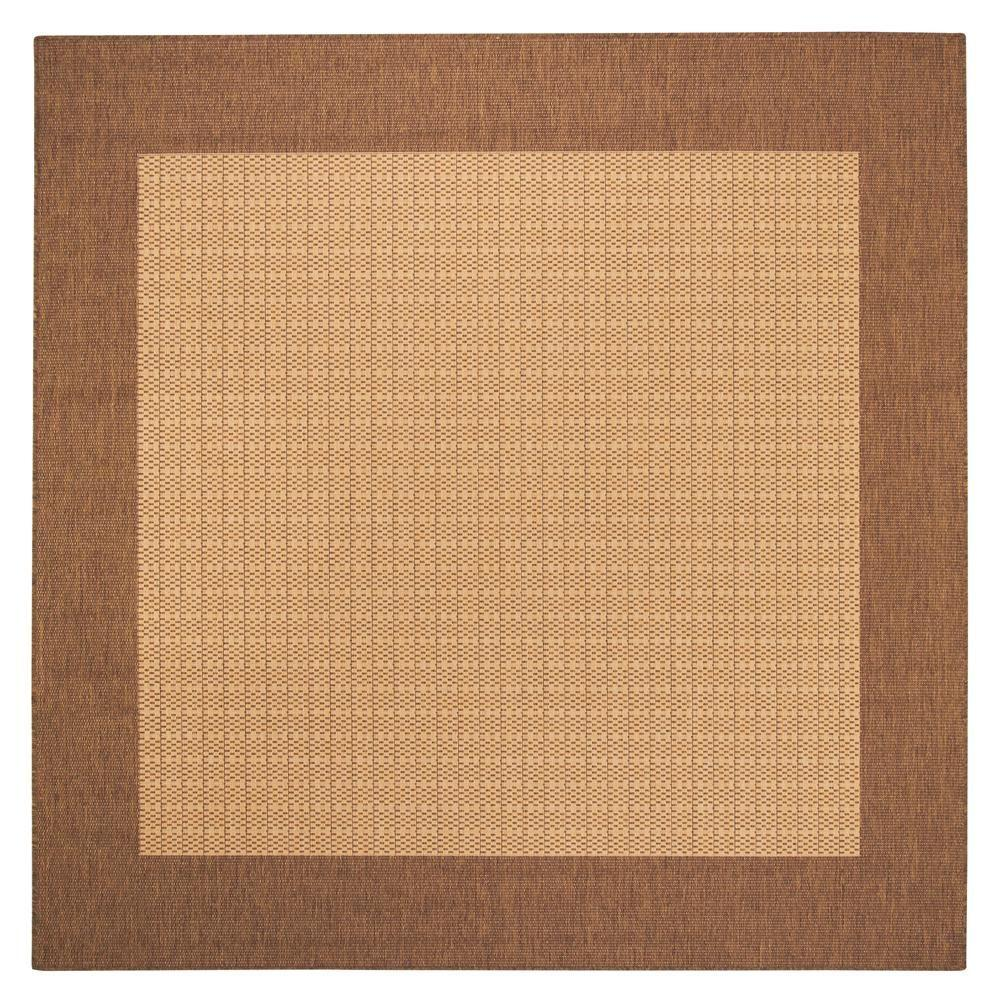 Checkered Field Natural 7 ft. 6 in. Square Area Rug