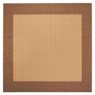 Checkered Field Natural 8 ft. Square Area Rug
