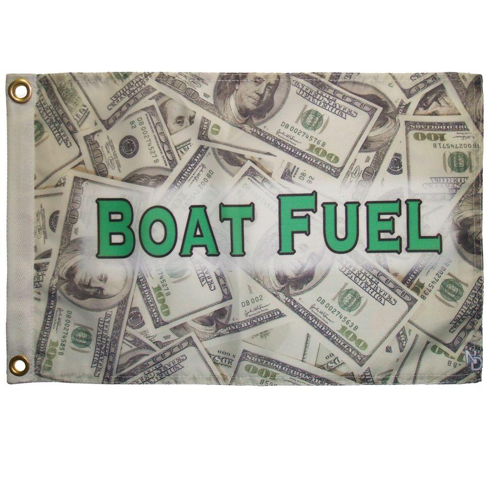 Multinautic 12 in. x 18 in. Boat Fuel Funny Flag