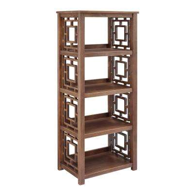 Haven Rustic Brown Bookcase