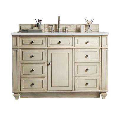 W Single Vanity In Vintage Vanilla With Quartz Vanity Top In White