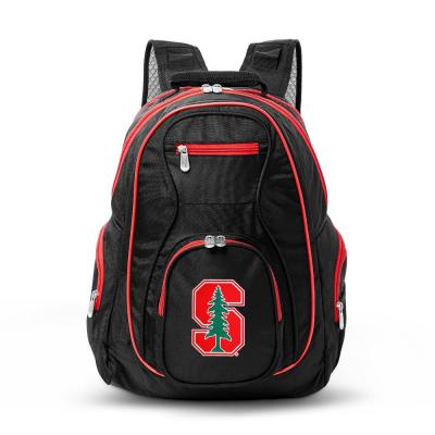 Denco NCAA Stanford Cardinal 19 in. Black Trim Color Laptop Backpack, Multi-Colored