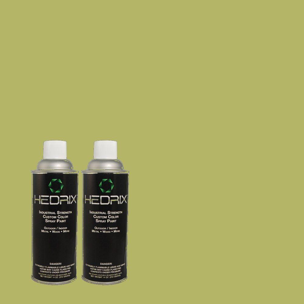 Hedrix 11 oz. Match of 1A61-5 Harwood Low Lustre Custom Spray Paint (2-Pack)