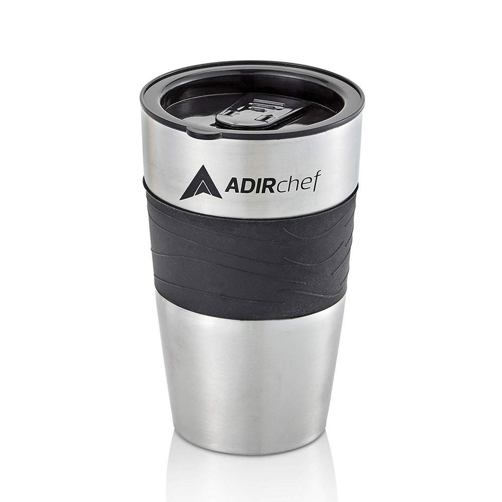 15 oz. Black Stainless Steel Travel Mug (2-Pack)