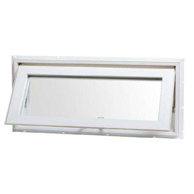 32 in. x 14 in. Top Hinge Awning Vinyl Window - White