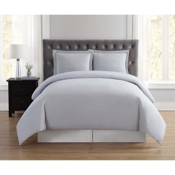 Everyday 2-Piece Silver Grey Twin XL Duvet Cover Set