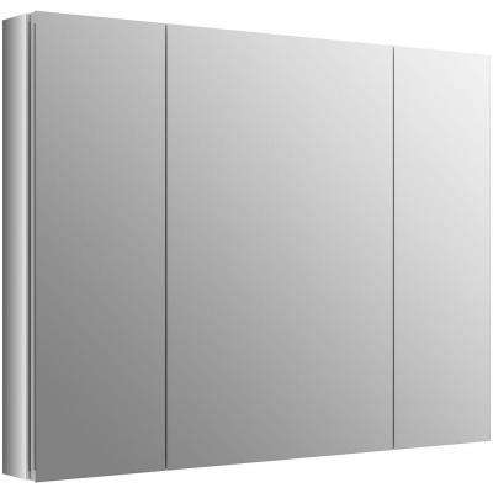 Verdera 40 in. W x 30 in. H Recessed Medicine Cabinet in Anodized Aluminum