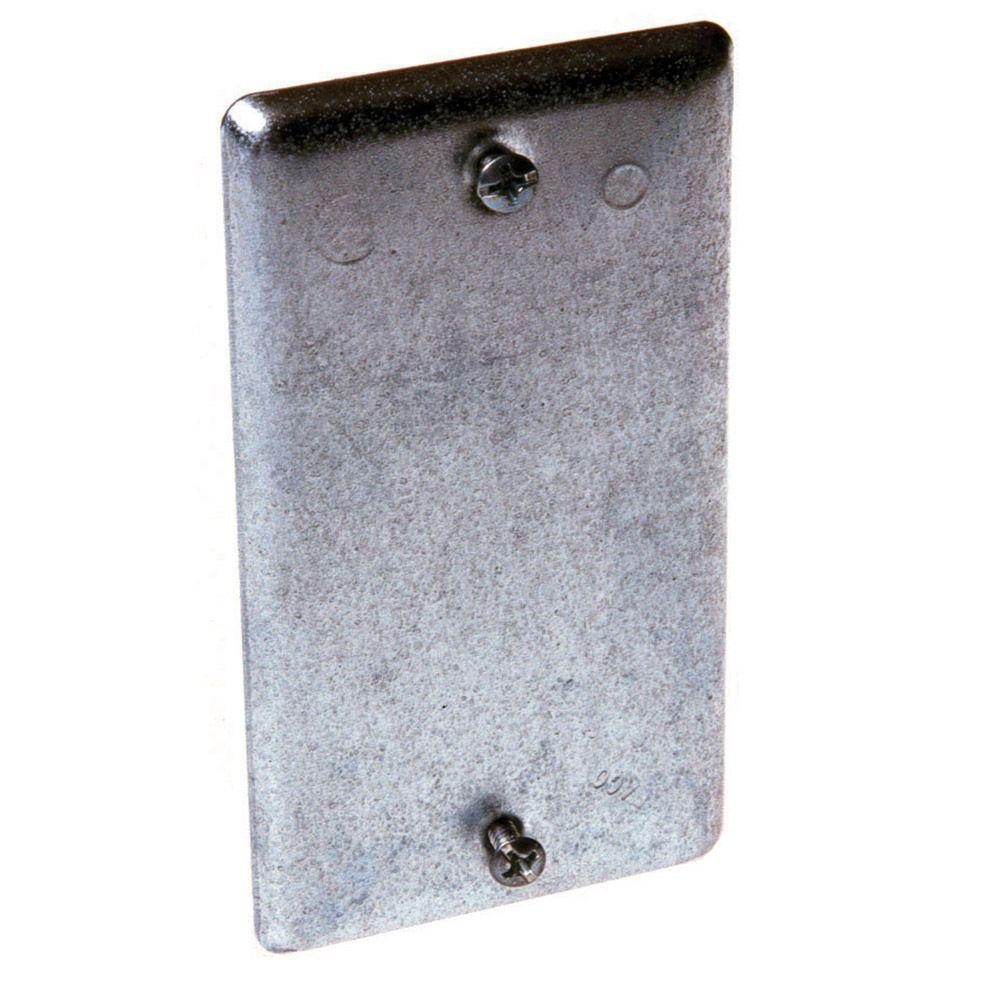 Metal Cover Plates For Electrical Pleasing Raco Single Gang Handy Box Cover Blank 25Pack860  The Home Depot Design Ideas