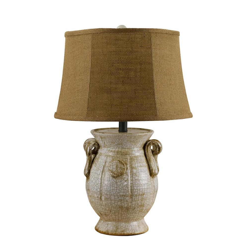 25 in. Ivory Table Lamp