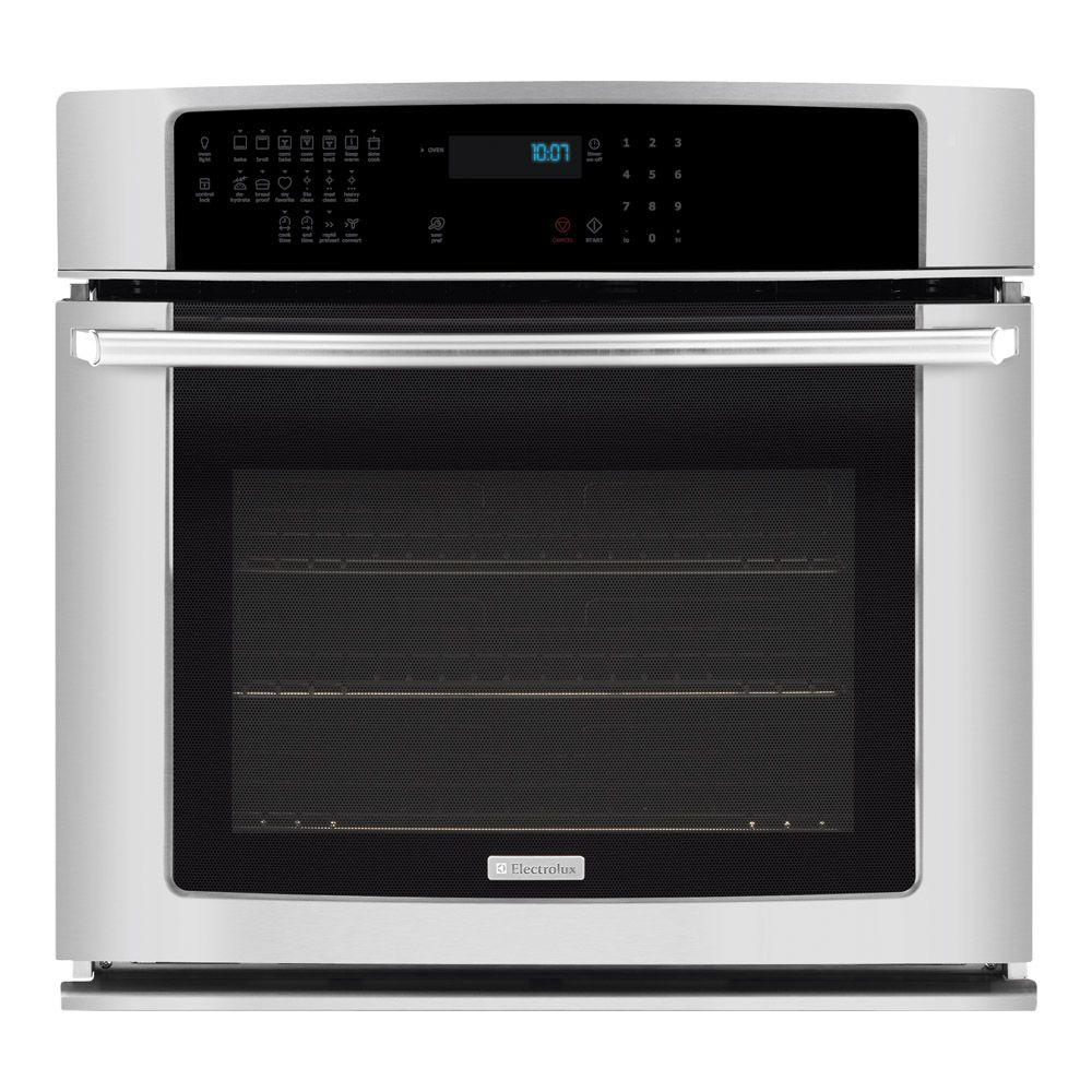 Electrolux IQ-Touch 30 in. Single Electric Wall Oven Self-Cleaning with Convection in Stainless Steel-DISCONTINUED
