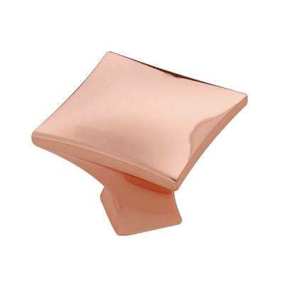 Twist Collection 1-1/4 in. Dia Polished Copper Finish Cabinet Knob
