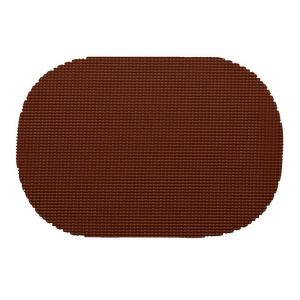 Kraftware Fishnet Oval Placemat in Chocolate (Set of 12) by Kraftware