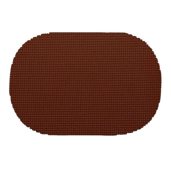 Kraftware Fishnet Oval Placemat in Chocolate (Set of 12) 32536