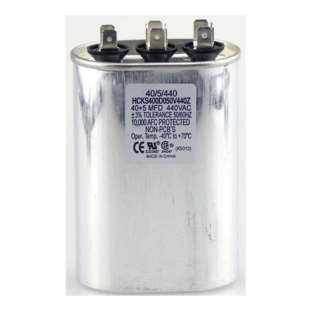 440-Volt 30/5 MFD Dual Rated Motor Run Oval Capacitor