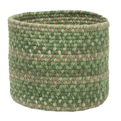 Acre Small Space Wool Basket Pinecrest 10 in. x 10 in. x 8 in.