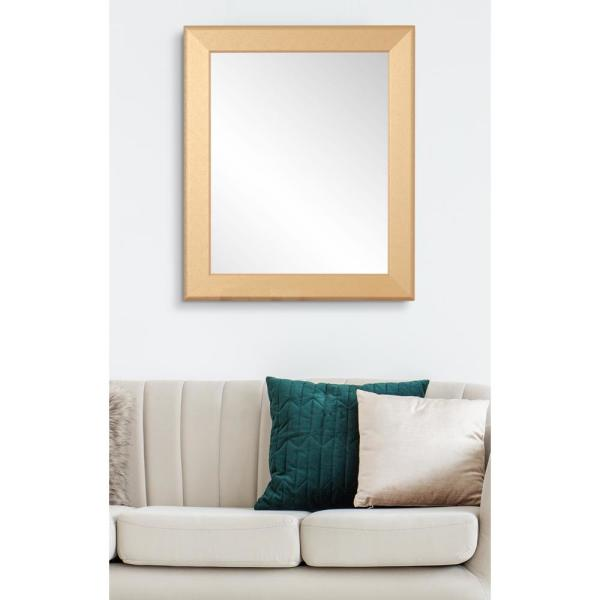 22 in. x 32.5 in. Contemporary Gold Pop Accent Mirror