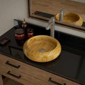 Natural Bamboo Vessel Sinks Bathroom Sinks The Home Depot