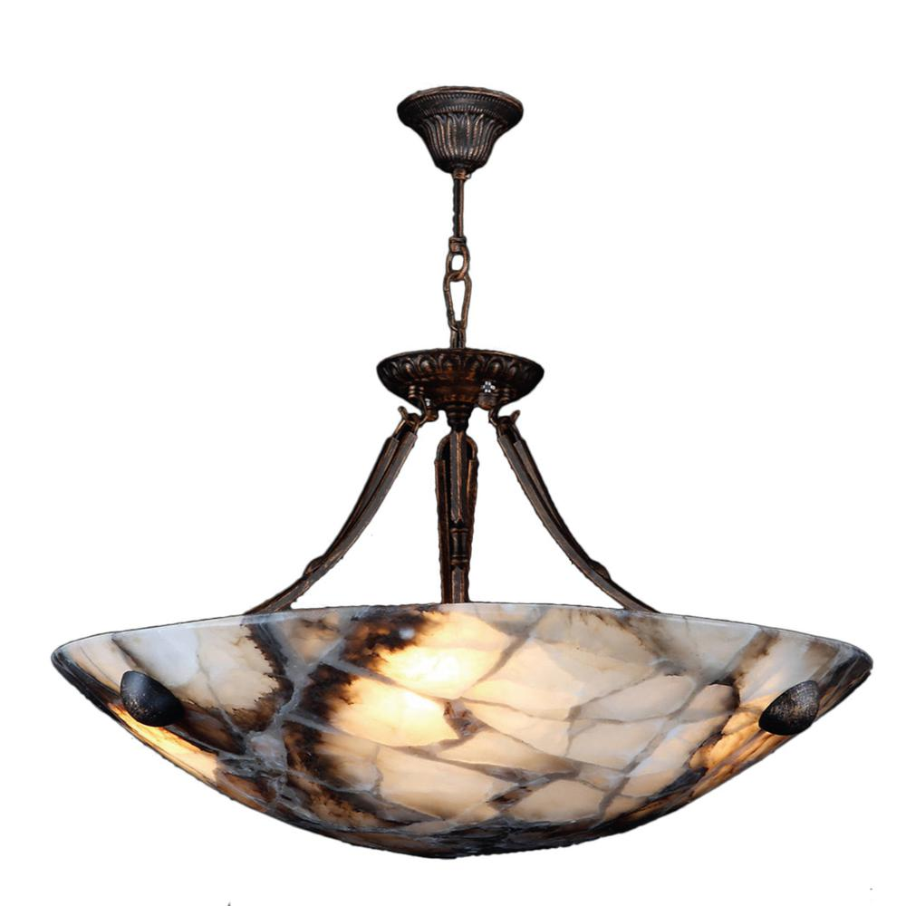 Worldwide lighting pompeii 4 light flemish brass natural quartz worldwide lighting pompeii 4 light flemish brass natural quartz small bowl pendant aloadofball Image collections