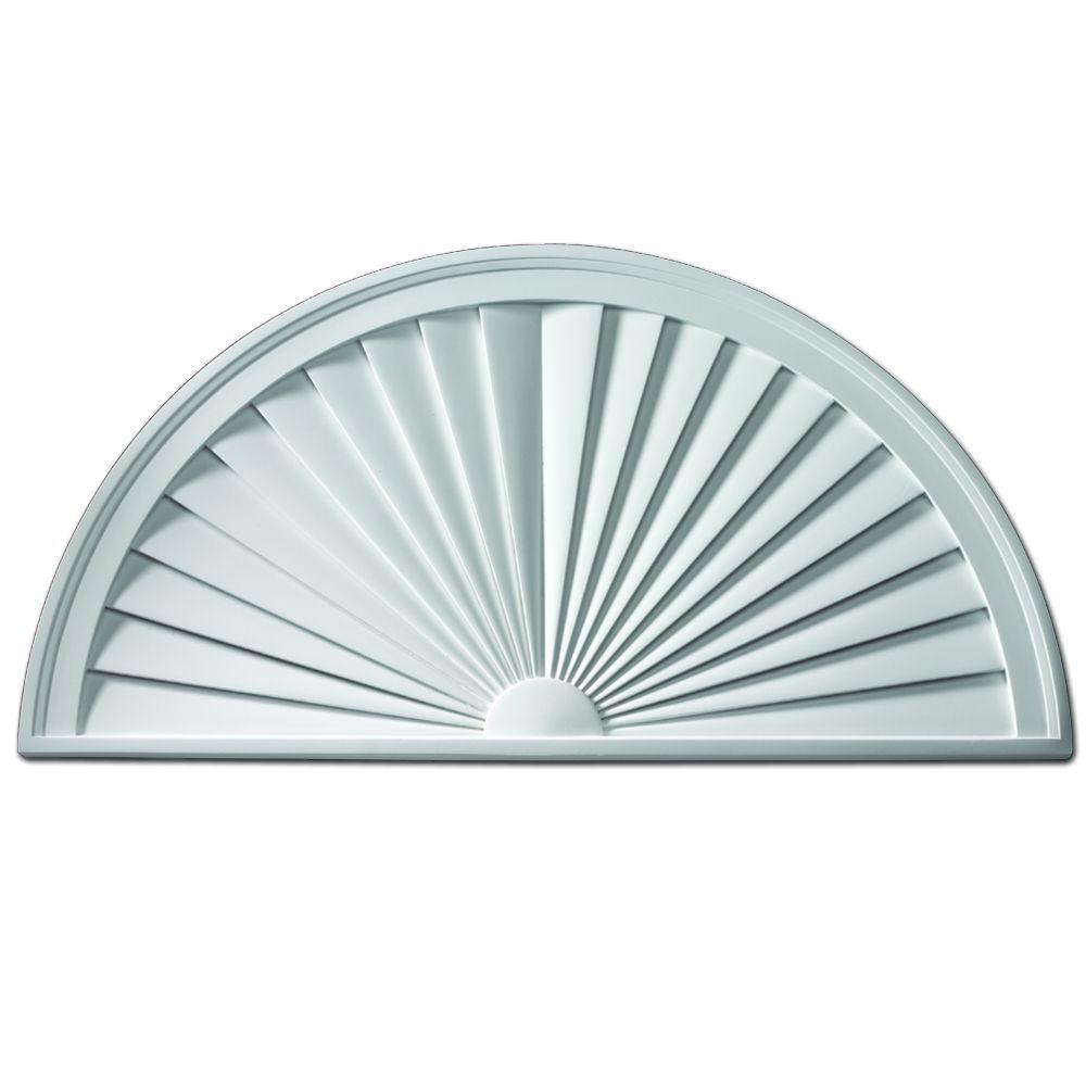 Fypon 32 in x 16 in x 1 3 4 in polyurethane half round - Decorative exterior door pediments ...