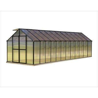8 ft. x 24 ft. Black Greenhouse