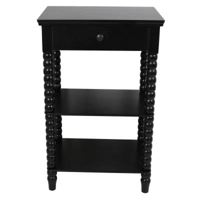 Spindle Black Side Table