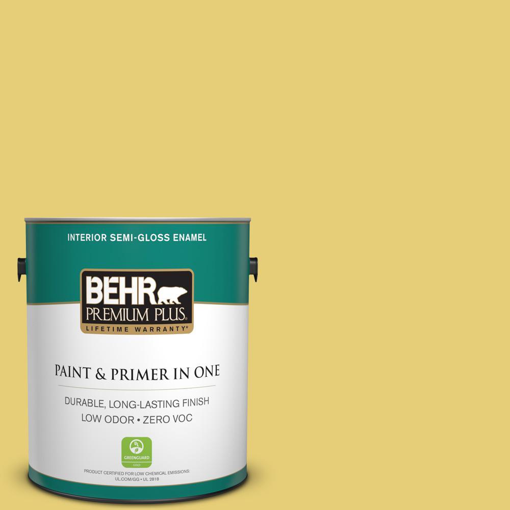 BEHR Premium Plus 1-gal. #P320-5 Green Papaya Semi-Gloss Enamel Interior Paint