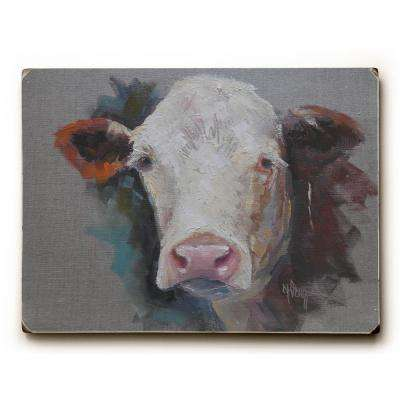 "9 in. x 12 in. ""Bovine"" by Carol Schiff Solid Wood Wall Art"