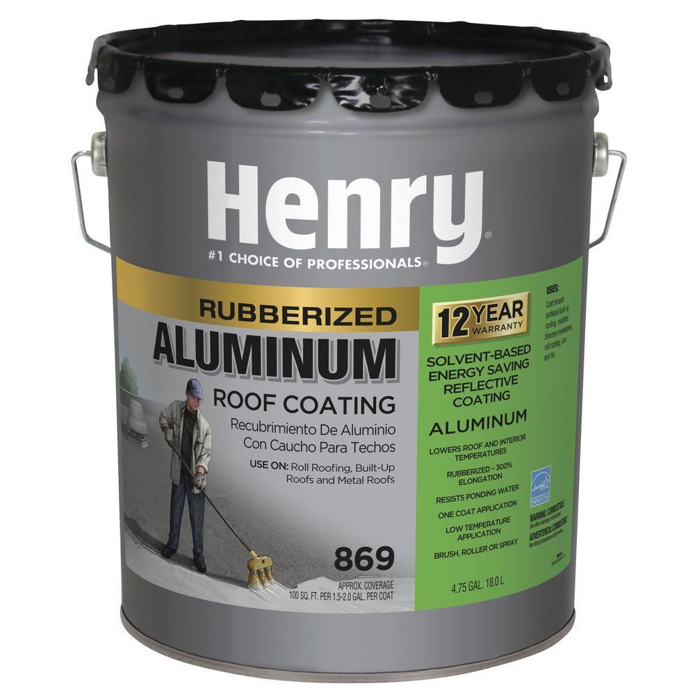 4.75 Gal. 869 Rubberized Aluminum Roof Coating (24-Piece)